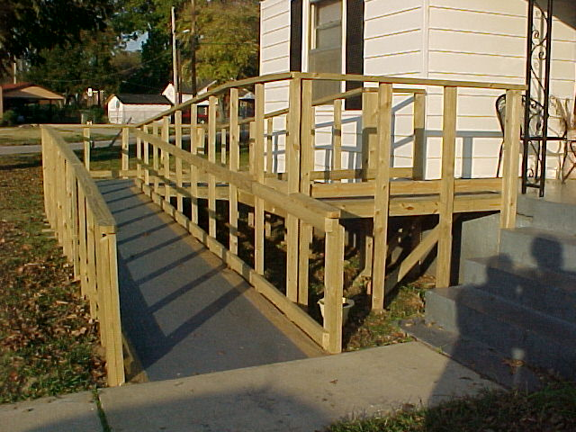... Wooden Ramps, Using Materials Ranging From Pressure Treated Wood To Any  Other Verified Outdoor Materials. Wheelchair Ramps Are Built To Improve Home  ...